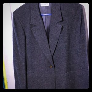 LandsEnd grey wool blazer.